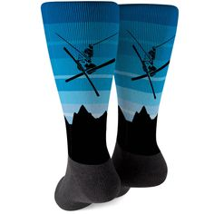 808674c0e80 Skiing Printed Mid-Calf Socks - Airborne