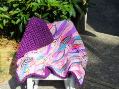 baby girl feather blanket crochet blanket flannel by 4my4creations