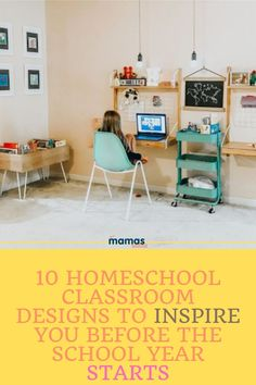 With many parents turning to homeschooling or at-home learning this fall, we've compiled a list of homeschool classroom design ideas that we're tempted to try. #Homeschool #classroom #HomeschoolClassroom