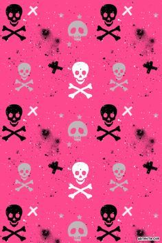 Neon Wallpaper Skull Iphone Pink And Black Cellphone Pattern
