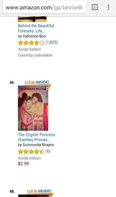 No. 46 in Amazon recommended category The Eligible Princess is a romance between a princess and a converted rogue set in ancient India http://www.amazon.com/Eligible-Princess-Lakshaya-Kamboj-Princesses-ebook/dp/B00Z09FAQA