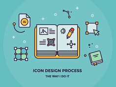 My Icon Design Process by Justas Galaburda