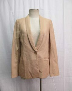 Vince Womens Tan Leather Blazer Size 10.