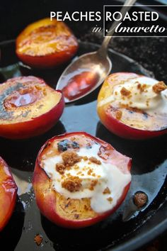 Peaches Roasted in Amaretto - shutterbean