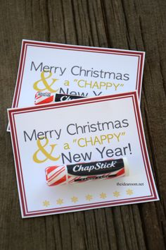 "Merry Christmas & a ""Chappy"" New Year Gift Idea - The Idea Room"