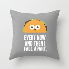 Taco Eclipse of the Heart Throw Pillow whimsical funny cute kawaii home soft furnishings pillow cushion design for funky teen decor bedroom