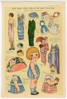 Free Dolly Dingle Paper Dolls | 289: Dolly Dingle's Paper Dolls & Her Little Friend Julie | paper doll ...