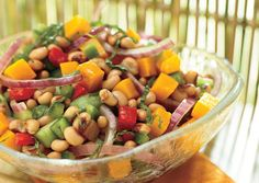 Black-Eyed Pea and Pumpkin Salad    http://www.bonappetit.com/recipes/2006/05/black_eyed_pea_and_pumpkin_salad