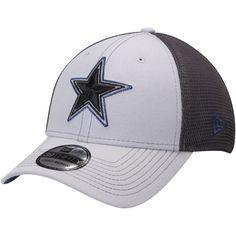 a40cb13c984 Men s Dallas Cowboys New Era Gray Graphite Two-Tone Sided 39THIRTY Flex Hat