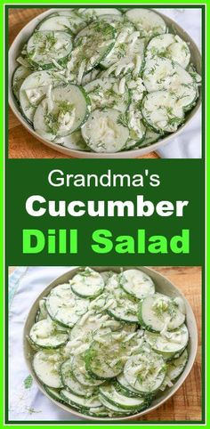 keto friendly salads This creamy dill cucumber salad is an incredibly fresh, flavorful easy salad. It takes about 10 minutes to prepare and tastes amazing! Dill Salad Recipe, Cucumber Dill Salad, Creamy Cucumbers, Spinach Salad, Fruit Salad, Best Salad Recipes, Cucumber Recipes, Healthy Recipes, Diet Recipes