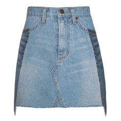 All the Clothes, Shoes, and Accessories You Need This Summer: If shopping for summer intimidates you, no worries! We've got you covered. Here are the 125 pieces we may have already added into our shopping cart. -- Pixiemarket Two Tone Denim Mini Skirt | coveteur.com