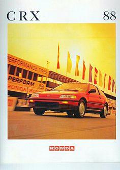 OEM Civic CRX Prelude Accord lot of 5 1989 Vintage Honda Sales Brochures