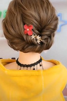 LOVE these! 😍 peinados recogidos LOVE these! Hair Up Styles, Medium Hair Styles, Long Hair Video, Hair Arrange, Easy Hairstyles For Long Hair, Casual Updos For Long Hair, Bob Hairstyles, Hair Videos, Hair Designs