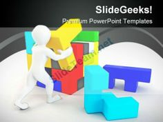 Build Puzzle People PowerPoint Backgrounds And Templates 0111 #PowerPoint #Templates #Themes #Background