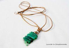 collar largo con piedra jade y cuerda de Laurita la Complementos por DaWanda.com
