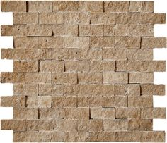 """Discount Glass Tile Store - Split Face Stone Mosaic Noce Travertine 1""""x2""""  (Honed) $11.95 s/f, $11.95 (http://www.discountglasstilestore.com/split-face-stone-mosaic-noce-travertine-1x2-honed-11-95-s-f/)"""
