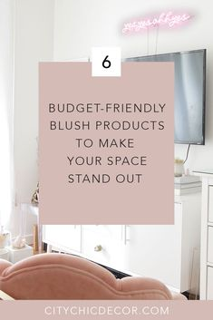 Here are Some Budget-Friendly Blush Products to Make Your Space Pop - City Chic Decor Apartment Party, Apartment Ideas, Apartment Goals, Renters Solutions, Tiny Studio Apartments, Studio Apartment Decorating, Studio Living, Petite Style, Curvy Style