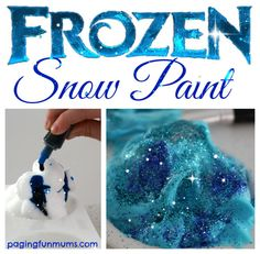 'Frozen' Snow Paint!