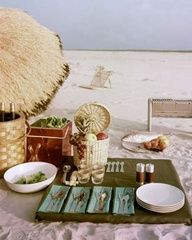 have a picnic on the beach