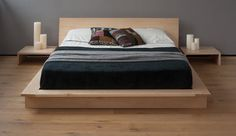 Oregon platform solid wood bed