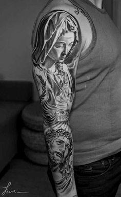Tatuajes de cruces, rosarios y frases de fe Más