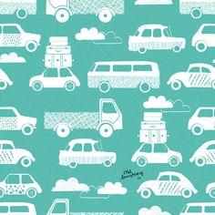 Traffic Jam Surface Pattern Design | Mel Armstrong Design
