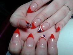 Katya - Nails nagel muster neon-red