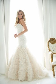 Glamorous gowns from Allure Bridals: http://www.stylemepretty.com/2015/05/28/allure-romance-fall-2015-collections/