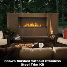 Napoleon Galaxy One-Sided Outdoor Linear Gas Fireplace | GSS48 |