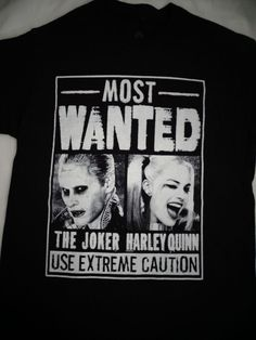Suicide Squad Harley Quinn Joker Gotham Wanted Poster Dc Comics T-Shirt #SuicideSquadHarleyQuinn #GraphicTee