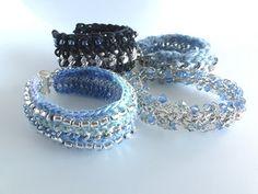 Crochet and Chain Mixed Media Bracelet Tutorial - The Beading Gem's Journal  #Beading #Jewelry #Tutorials