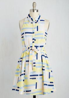 At a Blocks for Words Dress. Even the most outgoing fashionista will be left speechless by this pastel shirt dress! #multi #modcloth