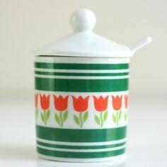 Vintage Tulip Sugar Bowl