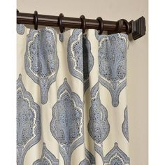 Arabesque Twill Single Curtain Panel