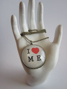 I Love Me Pendant Necklace by girlinair on Etsy, $10.00