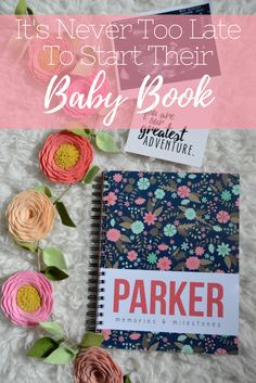 It's Never Too Late To Start Their Baby Book | Modern baby book