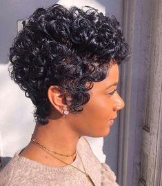 41-Short-Pixie-Hairstyles-for-Black-Women Best Short Pixie Hairstyles for Black Women 2018 – 2019 Short Curly Hair, Short Pixie, Short Curls, Cute Hairstyles For Short Hair, Dope Hairstyles, Short Hair Cuts For Women, Curly Pixie Hairstyles, Black Women Hairstyles, Pixie Cuts