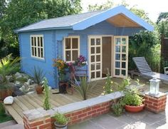 """Storage Garden Shed """"Wales"""" >> This is so cute! 3,000 usd via amazon >> Looks like a writing hut to me."""