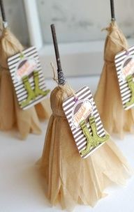 Witches' brooms made