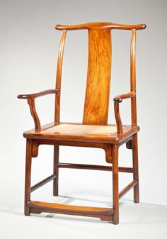 Huanghuali yoke back armchair with a backward sloping yoke. China Late Ming dynasty & A HUANGHUALI SIDE TABLE (XIAOTIAOZHUO)u003cbru003e17TH CENTURY | Lot ...