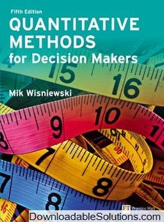 Instant download and all chapters test bank social research quantitative methods for decision makers edition mik wisniewski solutions manual solutions manual and test bank for textbooks fandeluxe Images