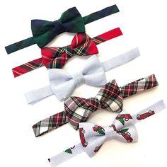Tartan plaid bow ties for boys, Brimmer Boys Preppy Christmas, Baby Boy Christmas, Christmas Bows, Christmas Shirts, Second Birthday Boys, Little Gentleman, Pilot Gifts, Boys Bow Ties, Cake Smash Outfit
