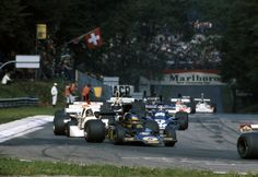 N°. 5: Ronnie Peterson (SWE) (John Player Team Lotus), Lotus 72E - Cosworth V8 (RET) N°. 4: Patrick Depailler (FRA) (Elf Team Tyrrell), Tyrrell 007 - Ford V8 (finished 7th)  1975 Italian Grand Prix, Autodromo Nazionale Monza