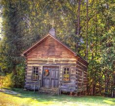 Rustic Church in the Pines.