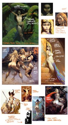 Studies on The God's work. Frazetta by Babe Lab : Pinup research and developement