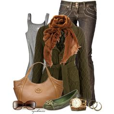 Tory Burch by cynthia335 on Polyvore featuring polyvore, fashion, style, Barbour, Tory Burch, Sara Designs, Subtle Luxury and Mossimo Supply Co.