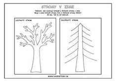 Pracovný list - stromy v zime Kindergarten, Earth Day, Elementary Schools, Education, Autumn, Halloween, Plants, Fall Season, Primary School