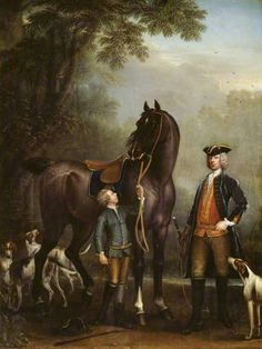 Viscount Weymouth's Hunt: The Hon. John Spencer beside a Hunter held by a Young Boy, 1733-6 by John Wootton
