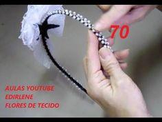 AULA 70 - TIARA DE CRISTAIS, PÉROLAS E FLOR DE RENDA.