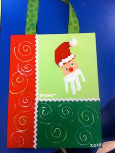 Santa handprint - make for your child's entire kindergarten class